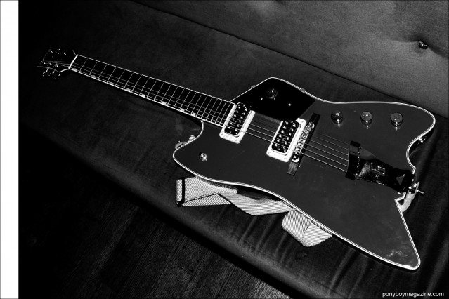 Justin Dean Thomas's guitar, photographed backstage in New York City by Alexander Thompson for Ponyboy magazine.