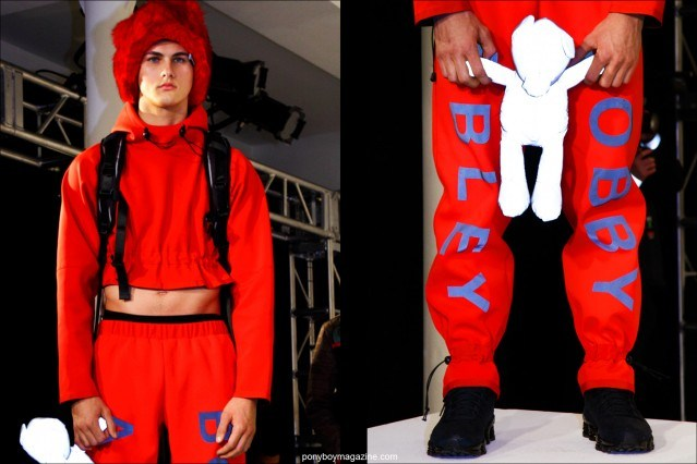 A vivid men's look at Bobby Abley F/W15 men's presentation. Photographed by Alexander Thompson for Ponyboy magazine NY.
