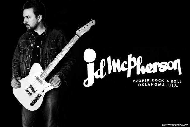 Back cover shot of JD McPherson, photographed by Alexander Thompson for Ponyboy magazine.
