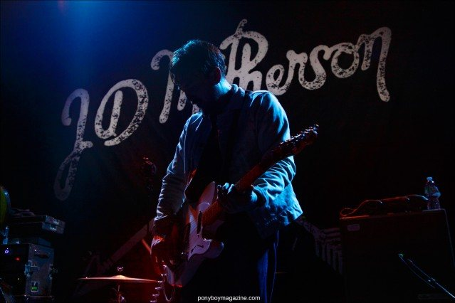 JD McPherson photographed by Alexander Thompson, onstage in New York City, for Ponyboy magazine.