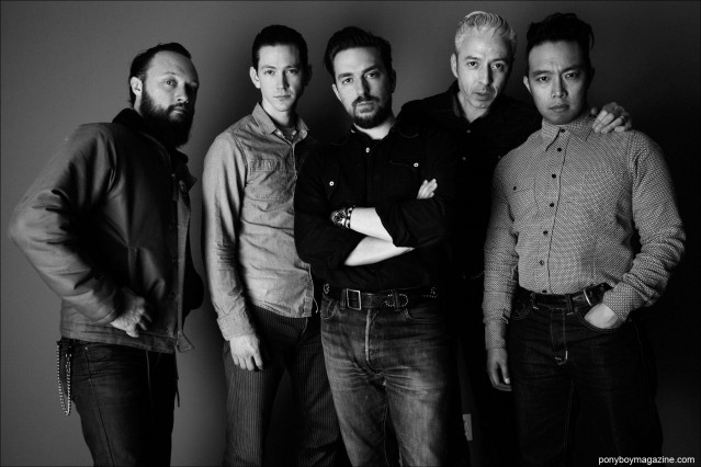 The incredible band known as JD McPherson, photographed backstage in New York City for Ponyboy magazine by Alexander Thompson.
