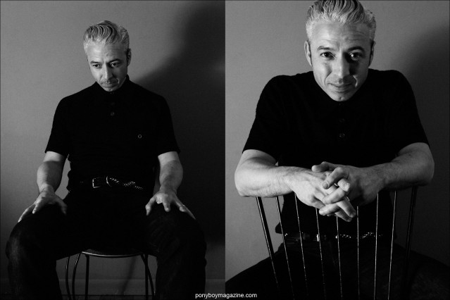 B&W portraits of upright bassist Jimmy Sutton, photographed in New York City by Alexander Thompson for Ponyboy magazine.