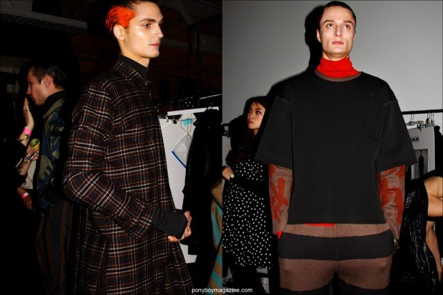 Male model Paul-Alexandre Haubtmann, photographed in Robert Geller Fall/Winter 2015 menswear. Photo by Alexander Thompson for Ponyboy magazine.