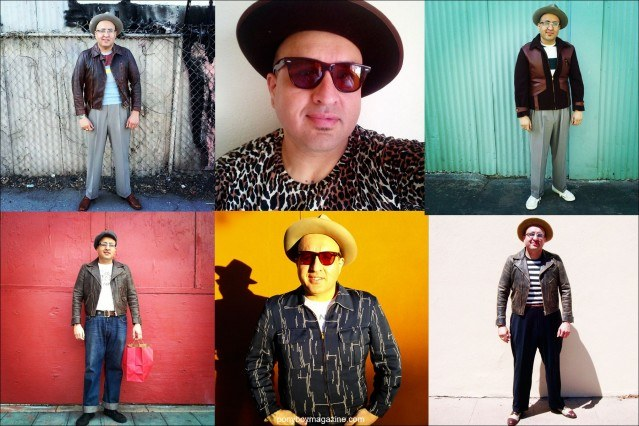 Men's vintage clothing from the 1930's-40's, from the collection of Santa Muerte Trading Co. Ponyboy magazine.