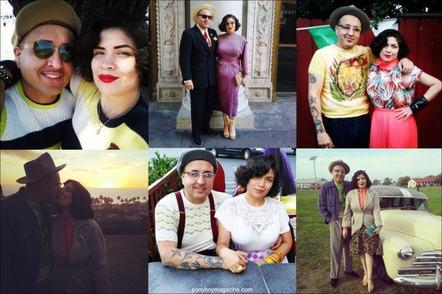 Photographs of Anthony Rosas and Crystal Landeros, from Santa Muerte Trading Co. Ponyboy magazine.