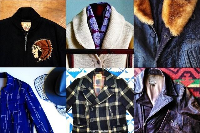 Photographs of mens' vintage clothing, courtesy of Santa Muerte Trading Co. Ponyboy magazine.