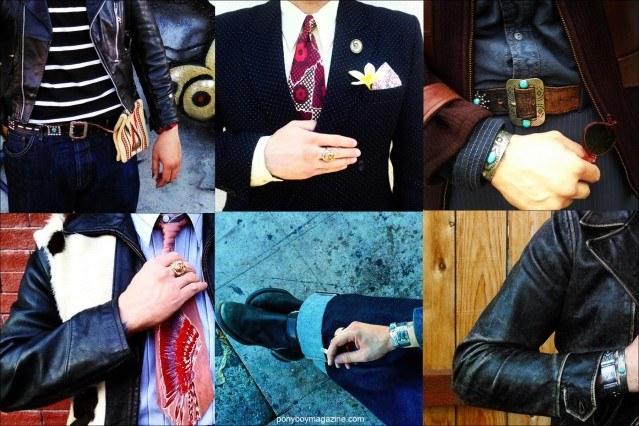 Detail shots of Anthony Rosas vintage clothing, from Santa Muerte Trading Co. Ponyboy magazine.