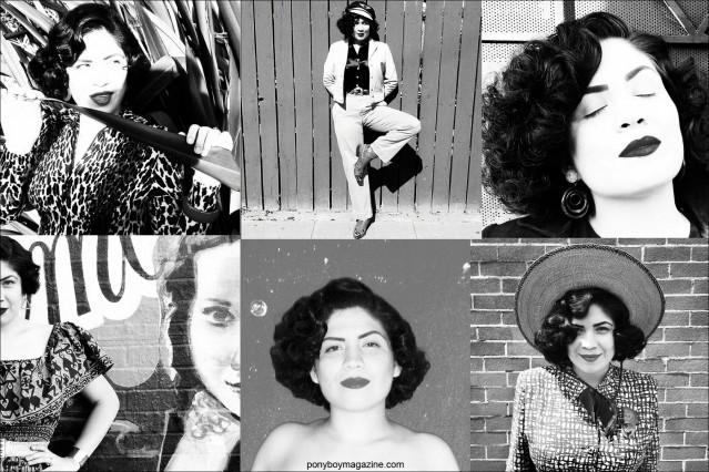 B&W photos of Mrs. California Sweetheart, from Santa Muerte Trading Co. Ponyboy magazine.
