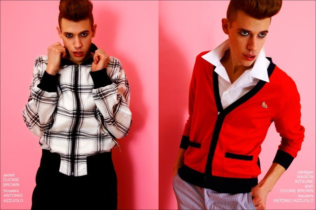 Lyle Lodwick wears the latest men's Spring fashions for Ponyboy magazine, photographed by Alexander Thompson.