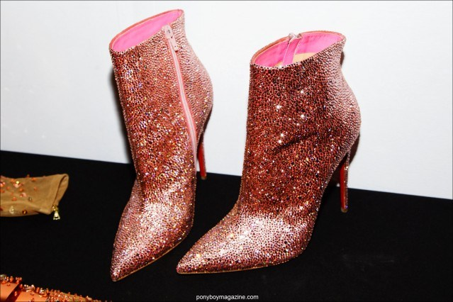 Glittery Christian Louboutin ankle boots, photographed backstage at The Blonds F/W15 collection at Milk Studios. Photograph by Alexander Thompson for Ponyboy magazine.