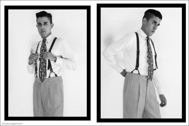 West Coast based production designer Daniel Luna, photographed in his best vintage menswear by Alexander Thompson for Ponyboy magazine.