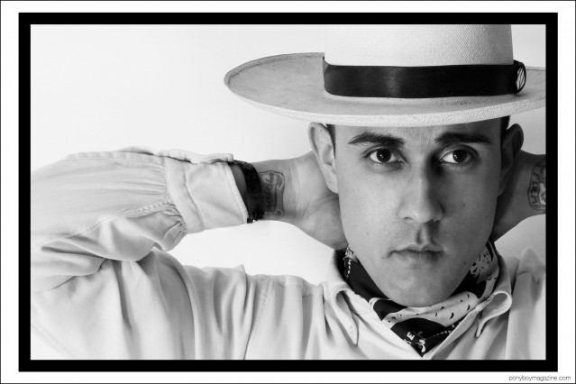 Production designer Daniel Luna, photographed by Alexander Thompson for Ponyboy magazine.
