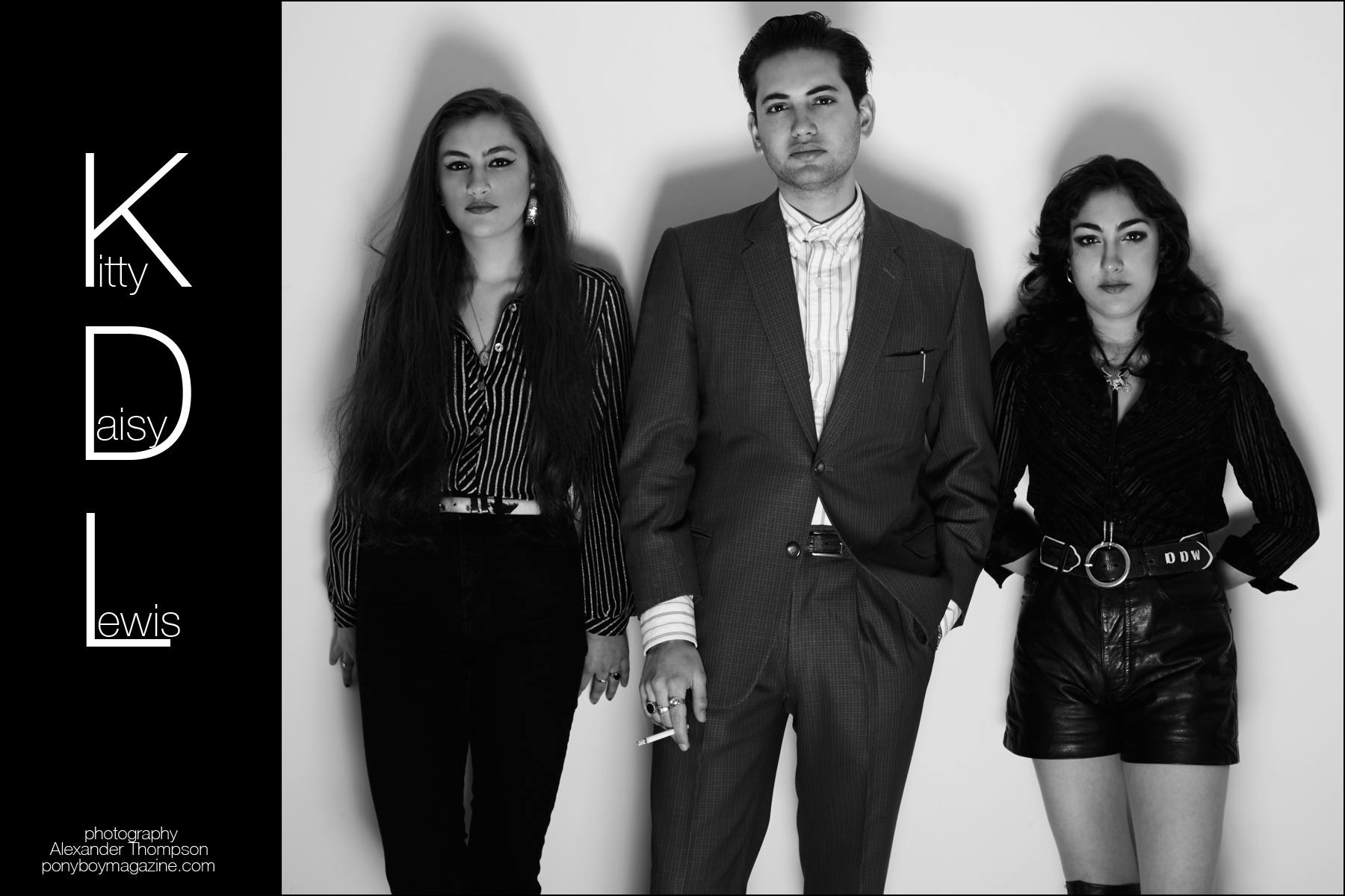 Kitty, Daisy & Lewis exclusively photographed for Ponyboy magazine by Alexander Thompson in New York.