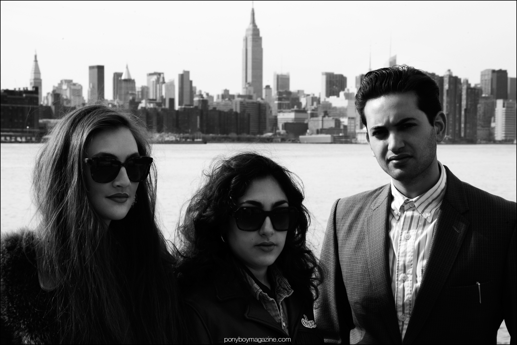 Musicians Kitty, Daisy and Lewis photographed in New York City by Alexander Thompson for Ponyboy magazine.