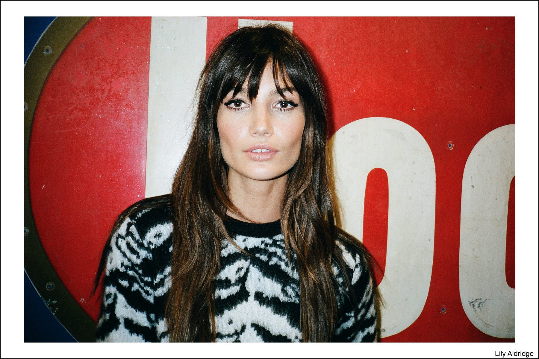 Model Lily Aldridge, photographed by Kristin Gallegos. Ponyboy magazine NY.