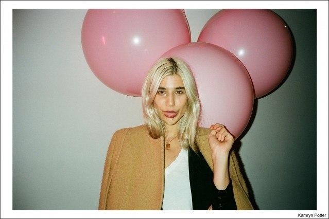Blonde beauty Kamryn Potter, photographed by Kristin Gallegos. Ponyboy magazine.
