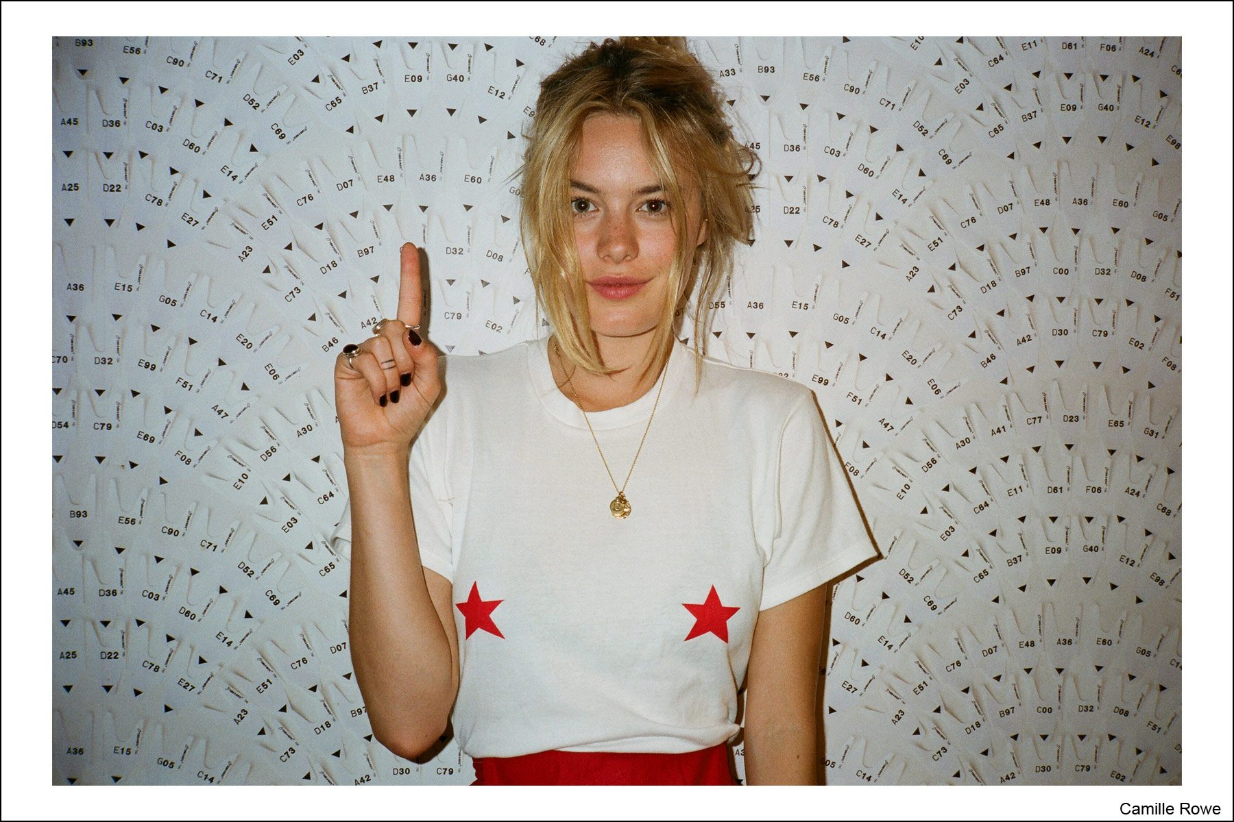 Model beauty Camille Rowe, photographed by Kristin Gallegos. Ponyboy magazine NY.