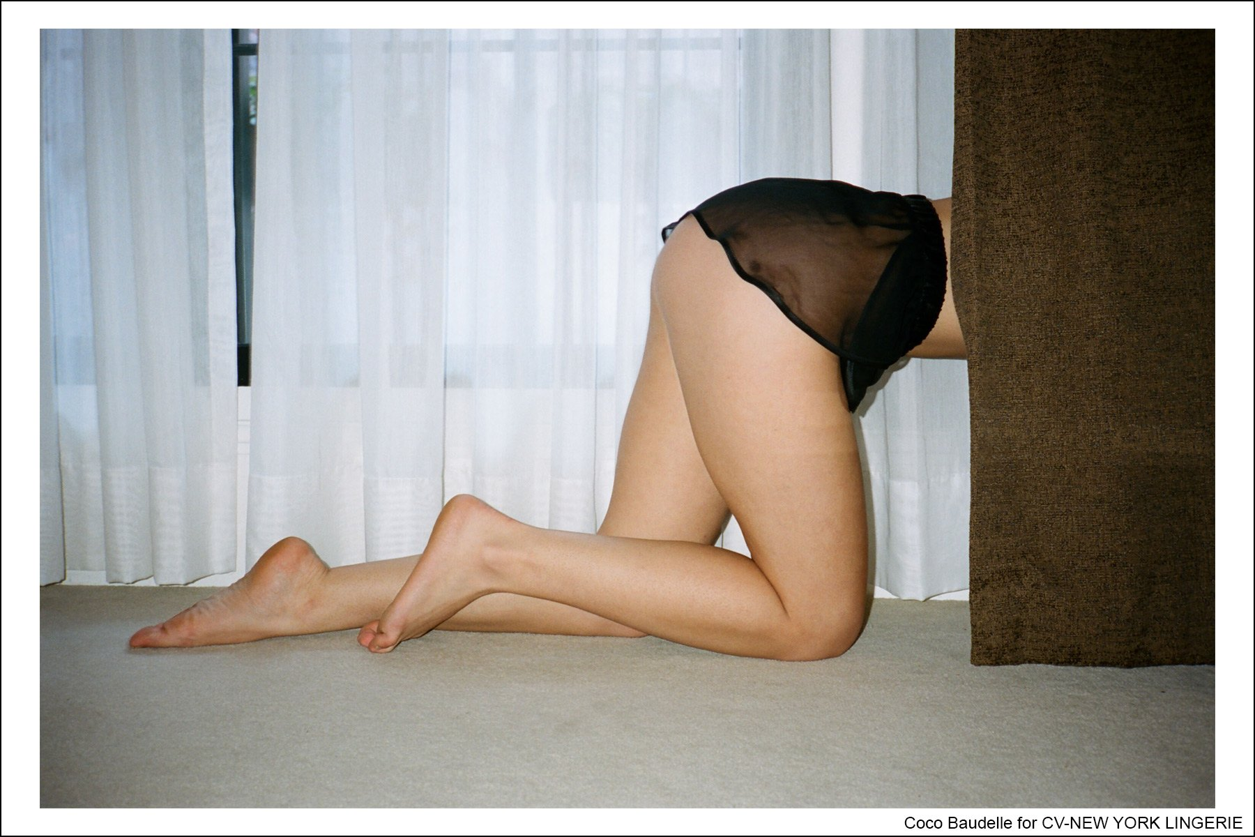 Coco Baudelle, photographed by Kristin Gallegos for CV-New York Lingerie. Ponyboy magazine NY.