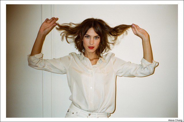 Model Alexa Chung, photographed by Kristin Gallegos. Ponyboy magazine.