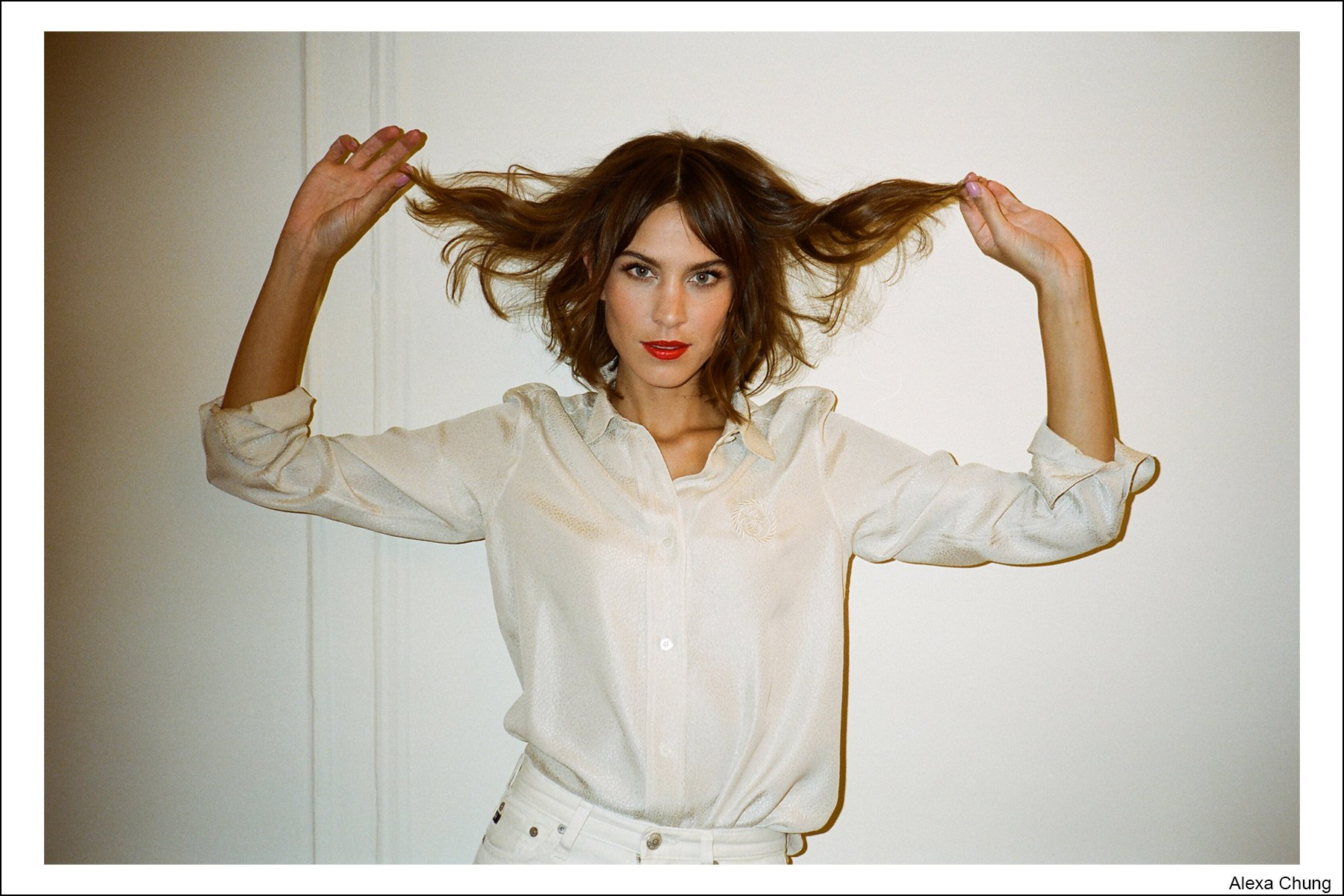 Model Alexa Chung, photographed by Kristin Gallegos. Ponyboy magazine NY.