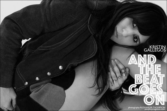 Beauty Kristin Gallegos, photographed for Ponyboy magazine in New York City by Alexander Thompson.