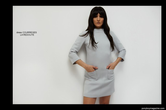 Krisin Gallegos in Courreges. Photographed by Alexander Thompson for Ponyboy magazine.