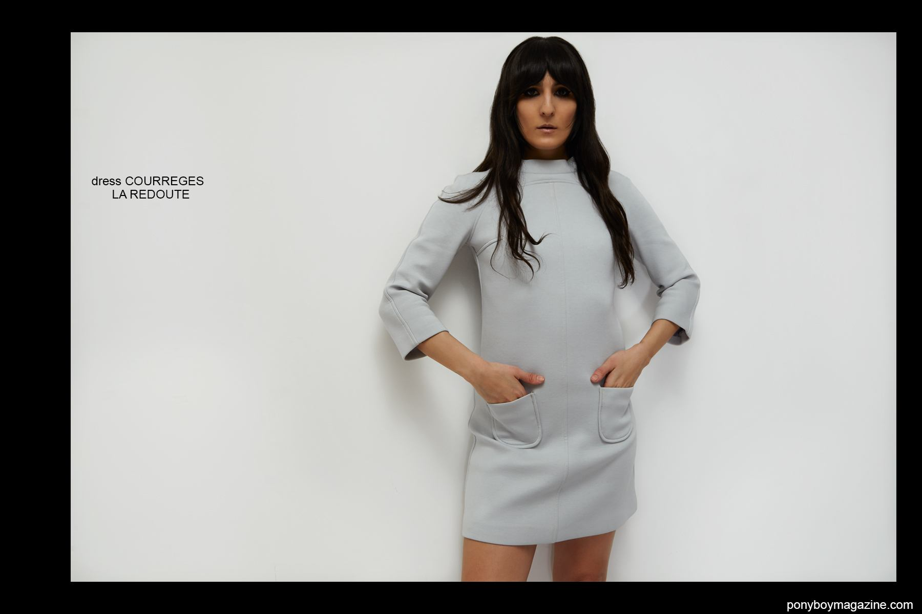 Krisin Gallegos photographed in Courreges by Alexander Thompson for Ponyboy magazine.