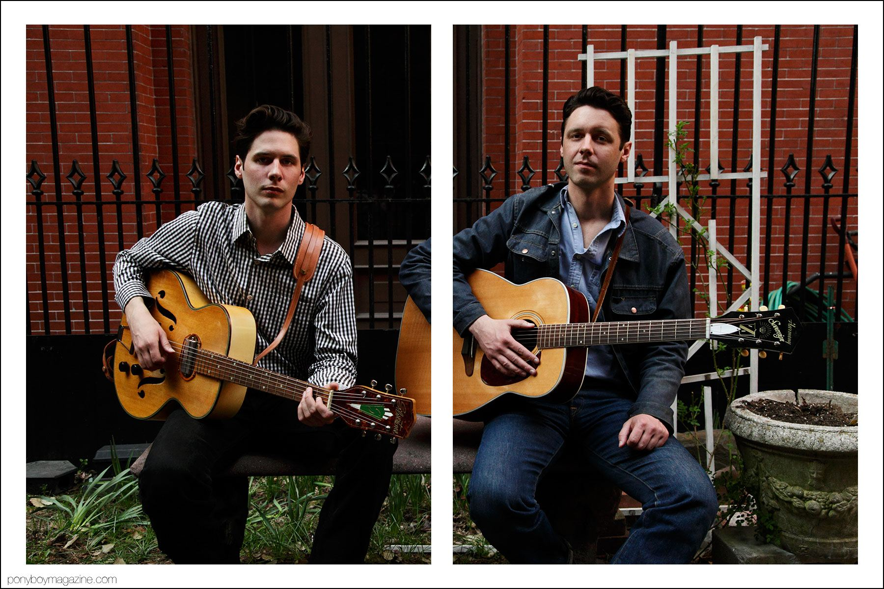 Old school country crooners the Cactus Blossoms, photographed by Alexander Thompson for Ponyboy magazine in New York.