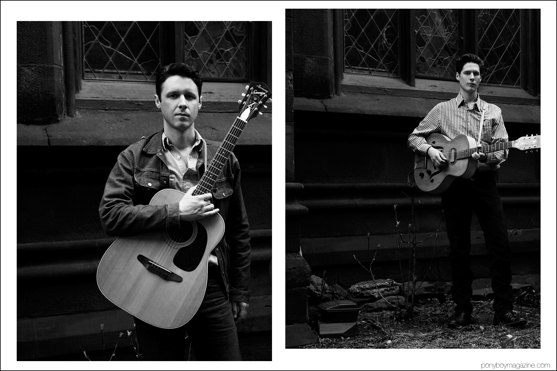 Musicians Page Burkum and Jack Torrey, from the Cactus Blossoms, photographed in New York for Ponyboy magazine by Alexander Thompson.