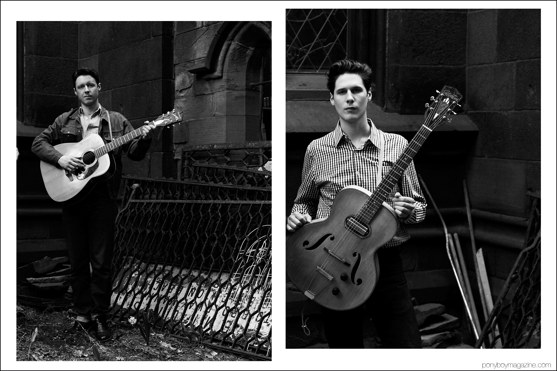 Musical duo the Cactus Blossoms, photographed by Alexander Thompson for Ponyboy magazine in New York.