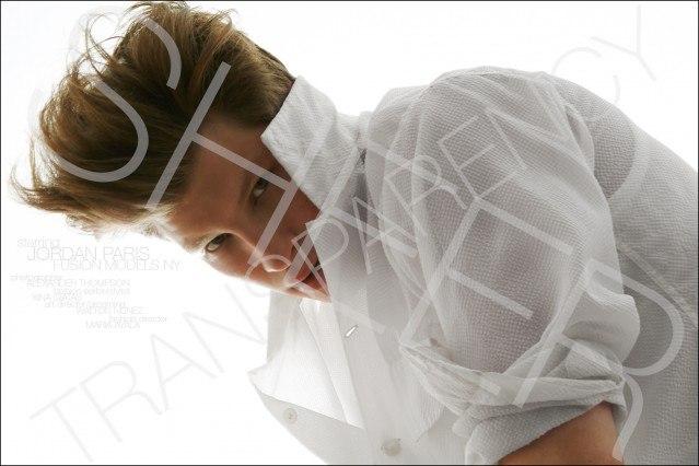 Fusion model Jordan Paris, photographed for Ponboy magazine by Alexander Thompson.