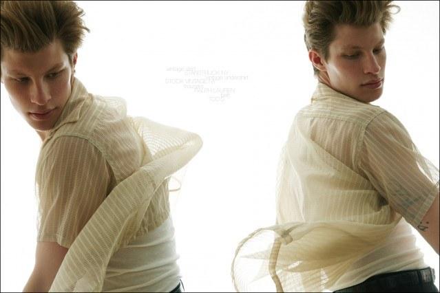 Model Jordan Paris, photographed by Alexander Thompson in New York City for Ponyboy magazine.