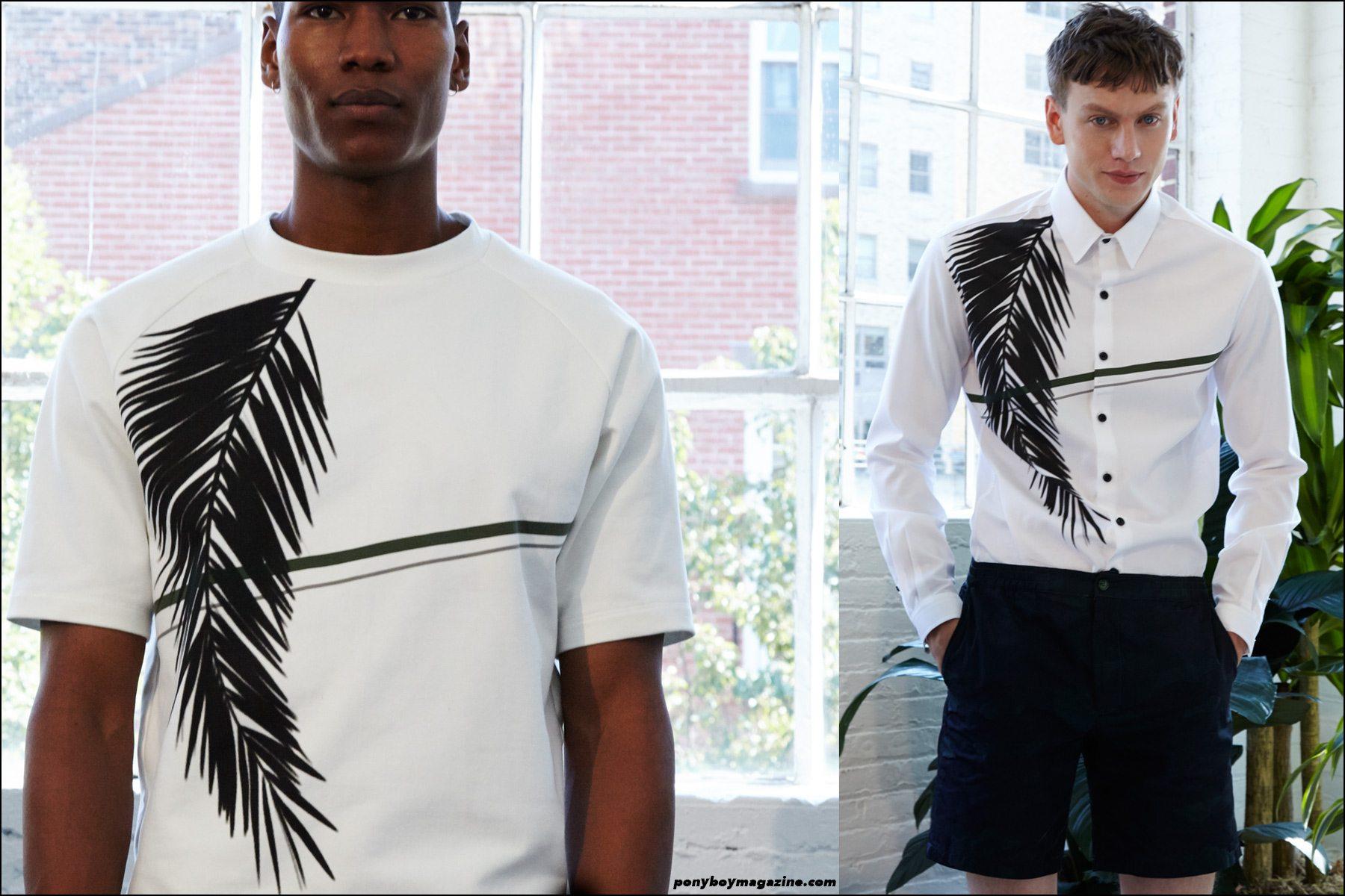 Male model Sid Ellisdon photographed at menswear designer Carlos Campos presentation, Spring/Summer 2016 at Industria Studios NY. Photography by Alexander Thompson for Ponyboy magazine NY.