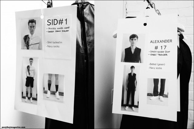 Models dressing cards, backstage at Carlos Campos Spring/Summer 2016 collection. Photographed by Alexander Thompson for Ponyboy magazine.