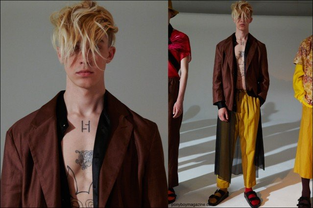 Models at Fingers Crossed presentation for Spring/Summer 2016, photographed at Industria Studios NY by Alexander Thompson for Ponyboy magazine.