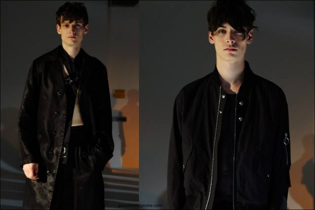 Model Adam Butcher photographed at the Fingers Crossed Sping/Summer 2016 menswear presentation at Industria Studios. Photographs by Alexander Thompson for Ponyboy magazine NY.