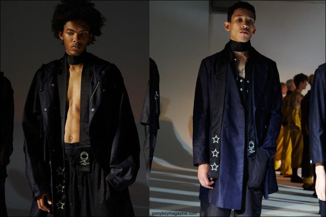 Cutting edge menswear at the Fingers Crossed Spring/Summer 2016 presentation at Industria Studios in New York City. Photographs by Alexander Thompson for Ponyboy magazine.