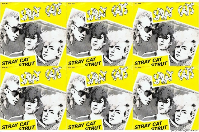 Album promos for Stray Cat Strut, from the collection of Stray Cats Collector's. Ponyboy magazine.