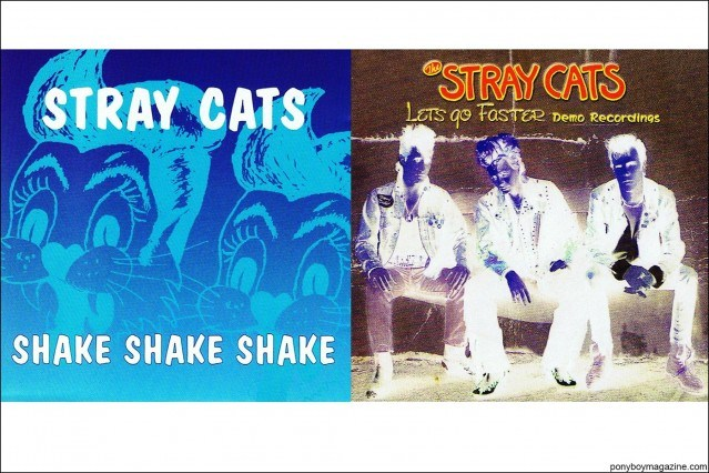 Album artwork for neo-rockabilly band Stray Cats, from the collection of Stray Cats Collector's. Ponyboy magazine.