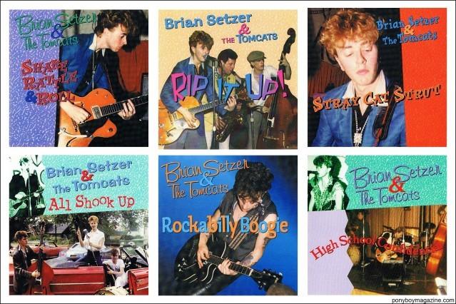 Brian Setzer & The Tomcats. Ponyboy magazine NY.