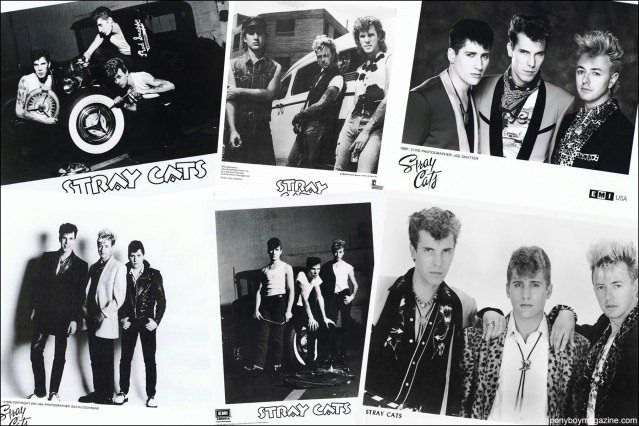 B&W Stray Cats publicity shots, from the collection of Stray Cats Collector's. Ponyboy magazine.