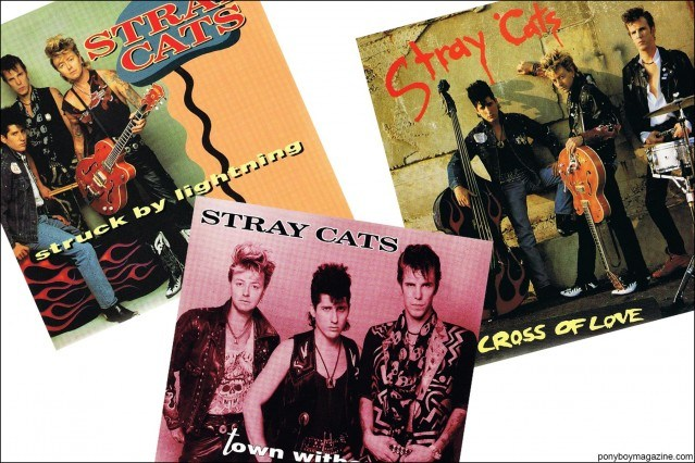 Late 80's Stray Cats artwork, from the collection of Stray Cats Collector's. Ponyboy magazine.