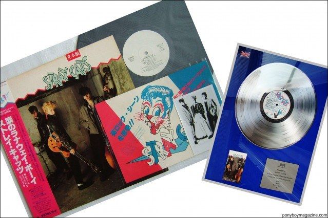 Vinyl from the collection of Stray Cats Collector's. Ponyboy magazine.
