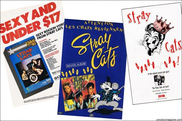 Vintage Stray Cats ads, from the collection of Stray Cats Collector's. Ponyboy magazine.