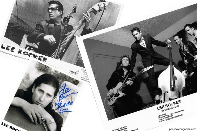 Publicity photos ofStray Cat bassist Lee Rocker, from the collection of Stray Cats Collector, Ponyboy magazine.