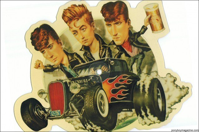 1980's picture disc from the collection of Stray Cats Collector's. Ponyboy magazine.
