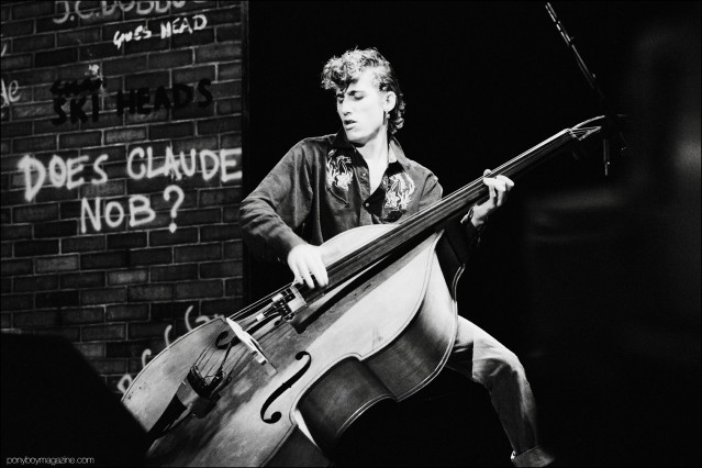 Rockabilly bassist Lee Rocker, from the Stray Cats, photographed by Manfred Becker. Ponyboy magazine.