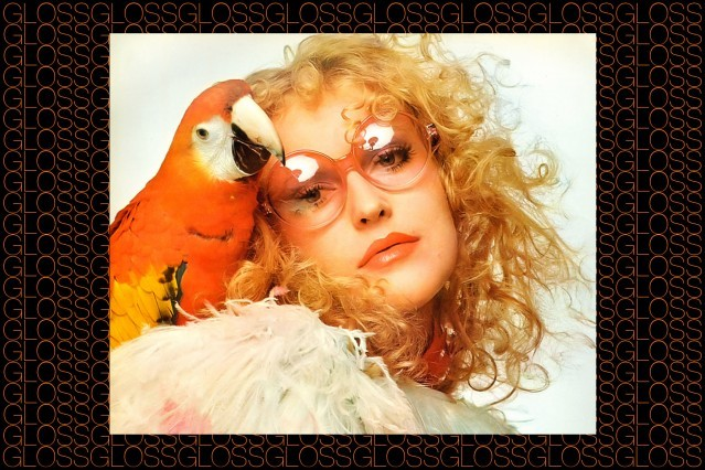 A model with a parrot, photographed by Chris von Wangenheim. From the Rizzoli 2015 book GLOSS by Roger Padilha & Mauricio Padilha. Ponyboy magazine.