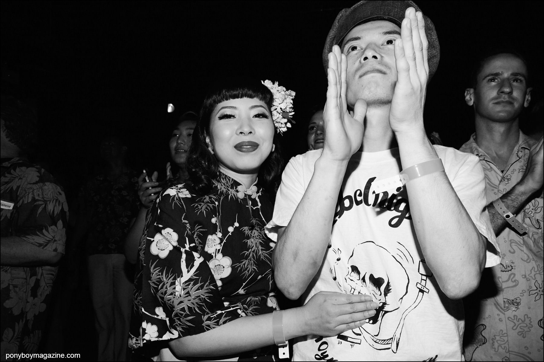 Rockabilly onlookers photographed at Hula Rock Vol 2 weekender in New York City. Photograph by Alexander Thompson for Ponyboy magazine NY.