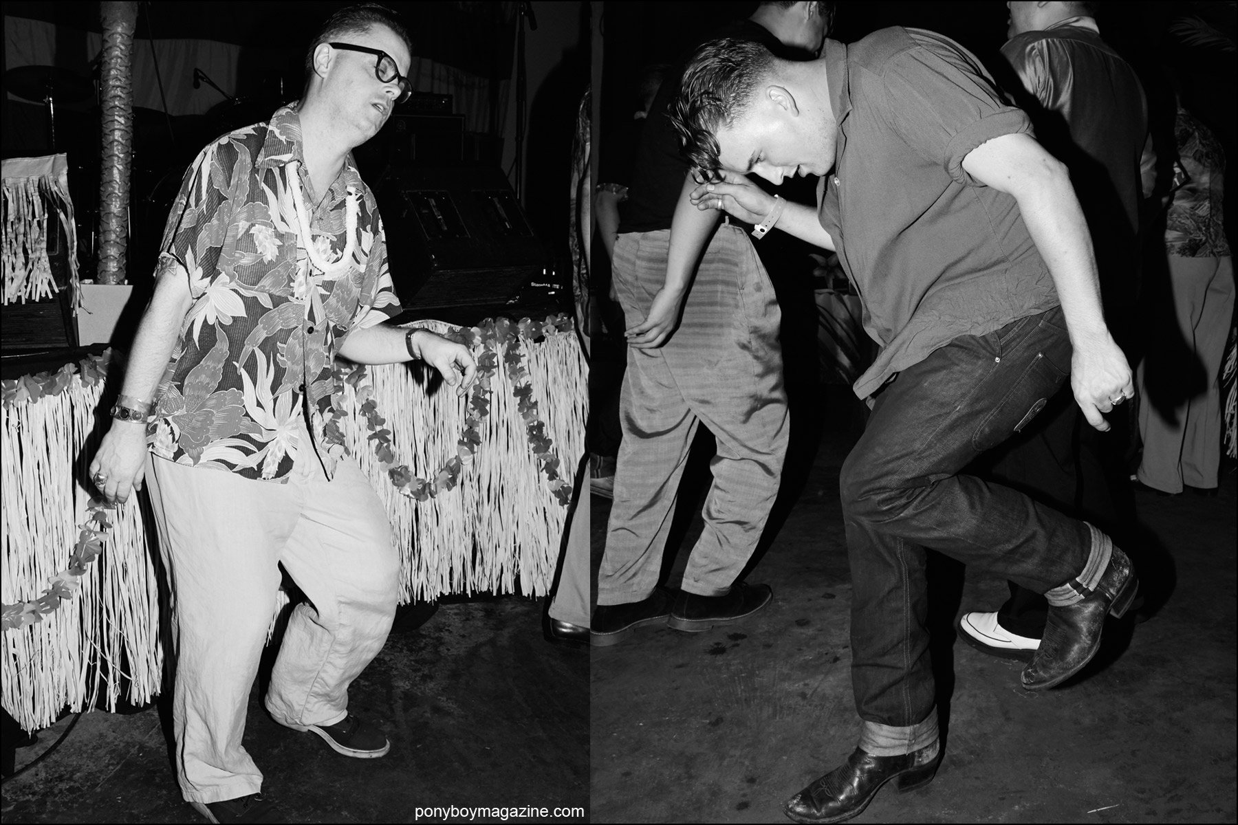 Rockabilly dancers bop on the dance floor at Hula Rock Vol 2 weekender. Photographs by Alexander Thompson for Ponyboy magazine NY.